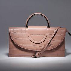 women's handbag leather gently Розовая сумочка-клатч из натуральной кожи