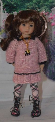 """""""Spring Pink"""" Hand Knit outfit for Effner Little Darling, Mini Maru   Dolls & Bears, Dolls, Clothes & Accessories   eBay!"""