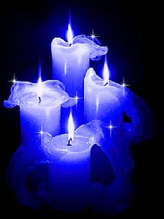 Martin Torres Lopez - Río Abierto This is so lovely, thank you sweet Cynthia J. Candle Lanterns, Pillar Candles, Blue Candles, Beautiful Gif, Beautiful Flowers, Candle In The Wind, Gif Animé, Blue Christmas, My Favorite Color
