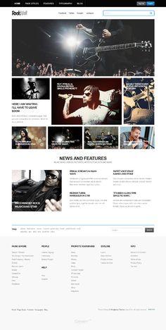 Gavick Rockwall, WordPress Professional Music Theme