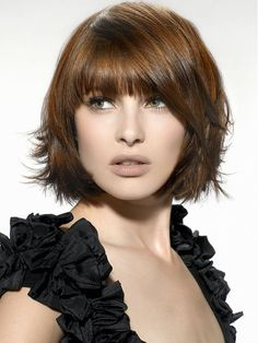 Another pixie-style bob cut with outward curves to show a funky and fun side of the hairstyle.