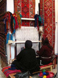 Weaving at a Kurdish Textile Museum in Iraq by one-thirteen