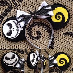 """The Nightmare Before Christmas"" Minnie Mouse Disney Ears Source Instagram…"