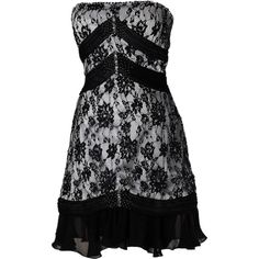 CAJ.SCR.FR KIT BLACK AND WHITE 34.png ❤ liked on Polyvore featuring dresses and short dresses