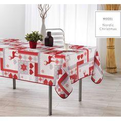 Vánoční ubrus na kuchyňský stůl bílé barvy Nordic Christmas, Table, Furniture, Home Decor, Room Decor, Home Interior Design, Desk, Tabletop, Desks