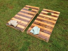Wooden corn hole boards. Regulation by ShopSweetlySalvaged on Etsy