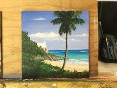 "John Smiths Bay, Bermuda.  6x6"" acrylic"