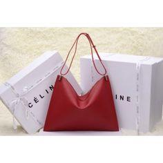 SAC CELINE 2014 0173 ROUGE 1.Marque  : celine 2.Style  : sac celine 2014 3.couleurs : rouge 4.Matériel : La première couche de cuir 5.Taille: W40 x D32 cm