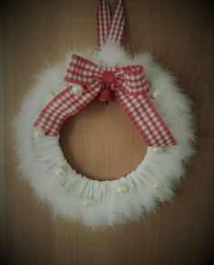 Christmas sewn wreath
