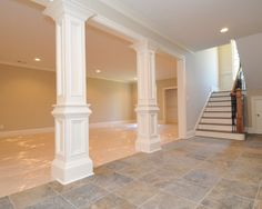 Columns---cover up the basement posts