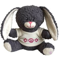 Ekologiskt mjukdjur, grå kanin med vit tröja - Ekologiskt & Tryggt - GoodforKids