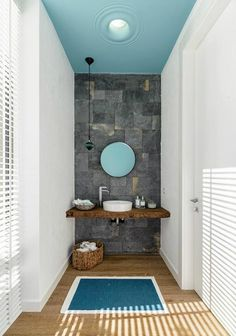 contemporary house interior with Shades Of Blue 9