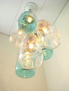 Chandelier made out of mason jars