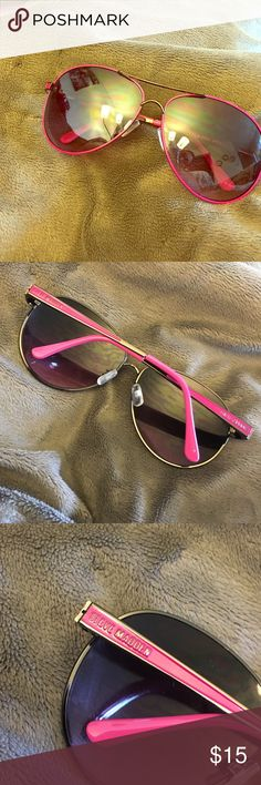 Hot Pink Steve Madden Sunglasses Worn only a couple of times Steve Madden sunnies! Aviator style. Super cute. Just dont find myself wearing them! No scratches or damage. Will include a case! :) Steve Madden Other