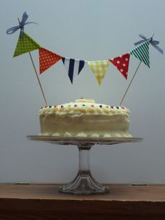 Cake Bunting/ Toppers available in all colors by BettyandBarclay, $8.00