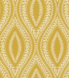 Waverly Carino Fabric, Buttercup - mediterranean - upholstery fabric - - by Jo-Ann Fabric and Craft Store
