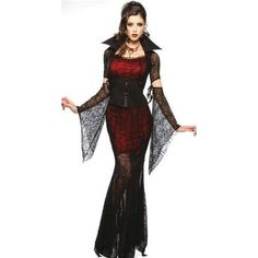 3 Pieces Womens Sexy Ghost Vampire Knight Costume Cosplay Halloween Costumes Free One Size
