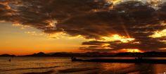 Sunset in the hot winter - Santos / SP - Brazil