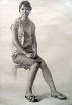 Learn To Draw People - The Female Body - Drawing On Demand Human Figure Sketches, Figure Drawing Models, Human Figure Drawing, Figure Sketching, Figure Drawing Reference, Person Drawing, Life Drawing, Drawing People, Drawing Sketches