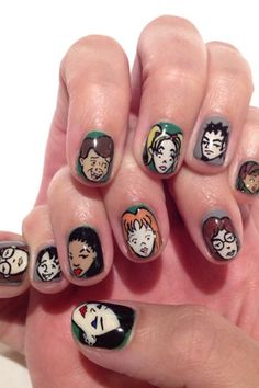 Katy Perry nail art inspired by Daria. Katy Perry is supes lame, but these nails are sweeeet---Katy Perry sported Daria designs handpainted by esNail Tokyo on Sept. Crazy Nail Art, Crazy Nails, Es Nails, Hair And Nails, Glam Nails, Katy Perry, Cute Nails, Pretty Nails, Nail Art Designs