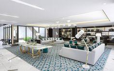 ヴィヴィアン・ウエストウッドに着想したペントハウス ロサンゼルスのラグジュアリーホテル「ロンドン・ウエスト・ハリウッド」内に5月18日新設される。ルーフトップテラスをはじめ、エクスクルーシブなアートや装飾品、特注の家具などを備える。ペントハウスは2階建て、広さ約1,020平方メートルで、ペントハウスとしてはロサンゼルス最大の規模になる。宿泊客は専有廊下を通って10階にアクセスし、大きなロビーを抜けるとグランドサロンに接続。ヴィヴィアン・ウエストウッドのクッションや装飾品をアクセントにした大きなコーナーソファー、特注のキャビネットや高級家具が配置されるほか、サロン中央には特注品のスクイグル柄の大きなラグが敷かれる。また、125×125cmサイズのハンドメイドのタペストリーは、「Exploration」と題した2001年春夏コレクションに着想したという。