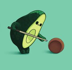 Ideas for funny cute illustration people Avocado Cartoon, Avocado Art, Cute Avocado, Avocado Salad, Cute Disney Wallpaper, Cute Wallpaper Backgrounds, Cute Cartoon Wallpapers, Funny Doodles, Cute Doodles