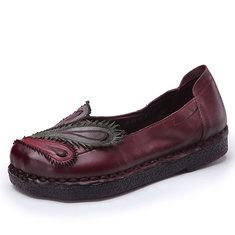 Hot-sale Phoenix Embroidered Hollow Out Casual Flat Vintage Loafers - NewChic Mobile