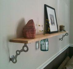 Stuff to do with mason jars: Fresh Cut Flower Shelf