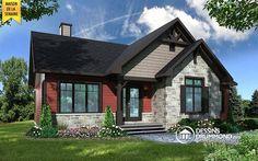 Vue avant - MODÈLE DE BASE Maison style champêtre rustique, 3 à 5 chambres, grand walk-in chambre maîtres, cuisine et salon aire ouverte - Aspen Creek