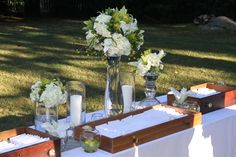 #summer #wedding Floral arrangements by chadmichaelpeters. For more information on our creative design services call: 508-999-1120.