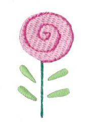Doodle Rose Bud - 4X4!   Mini Designs   Machine Embroidery Designs   SWAKembroidery.com Bunnycup Embroidery