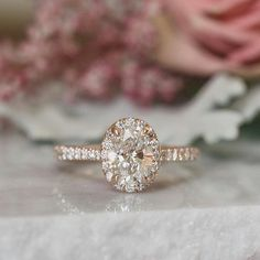 We're still ing over this oval rose gold engagement ring!   : @toddjames