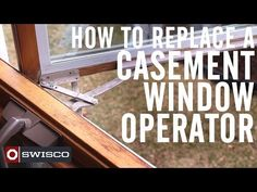 One of the top ten most recommended home maintenance ideas for the spring is checking on your windows -- how they're looking, and how they're operating. Many attractive windows are the casement type, with a crank handle to open and close them. Sometimes the operating assembly can wear out, making them hard or impossible to use. Luckily, it's an easy fix, and can extend the window's life for years!