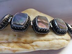 Happy Piasso Navajo Sterling Silver Abalone by ChicAvantGarde, $425.00