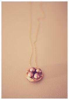 diy nest necklace