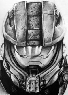 This is a drawing I did of Master chiefs new helmet design in Halo This took about hours to complete and i drew it using and pencils. Video Game Drawings, Cool Drawings, Disney Drawings, Halo Armor, Halo Game, Star Wars Episode Iv, Red Vs Blue, Helmet Design, Diy Tattoo