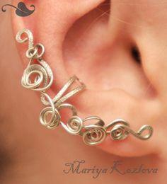 Silver Fairy Curls of Magic  Ear Cuff- silver color tarnish resistant wire. $26.00, via Etsy.    Mariya Kozlova, Moscow, Russia