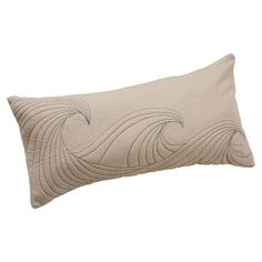 Surfer Dude Pillow Cover   PBteen Embroidered waves $40