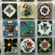 Japan Study Tour Majolica tiles made in Japan displayed at the Lixil tile museum in Tokoname. Some of these tiles look like the same ones I have seen used in Singapore. Most of these tiles were made in central Japan areas in places near Nagoya Osaka and Kobe.  #jenniferlimart #tonokoname #peranakantiles…