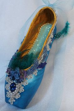 Check out this item in my Etsy shop https://www.etsy.com/listing/482272972/decorated-pointe-shoe-sleeping-beauty