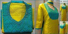 Salwar Neck Patterns, Neck Patterns For Kurtis, Salwar Pattern, Salwar Neck Designs, Kurta Neck Design, Kurta Designs Women, Kurtha Designs, Chudidhar Neck Designs, Neck Designs For Suits