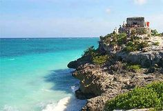The Tulum Mayan ruins are located on the east coast of the Yucatan Peninsula Mexico