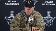 David Krejci sported the 'Player of the Game' Army Ranger jacket following Game 1.