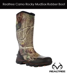Realtree Camo Rocky MudSox Waterproof Rubber Boot $98 #realtree #camoboots