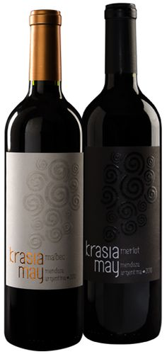With great pleasure we present our iconic wines: Krasia May Malbec and Krasia May Merlot 2010. See more at www.krasiamay.com Wine Packaging, Wines, Red Wine, Alcoholic Drinks, Bottle, Glass, Drinkware, Flask, Corning Glass