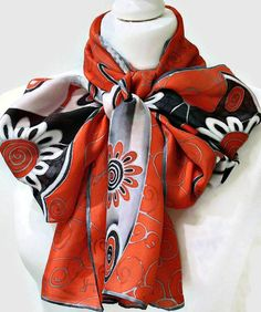 Hand Painted Silk Butterfly Scarf  With A by SimplySilkScarves