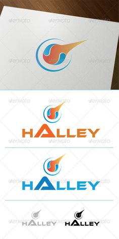 Halley Comet - Logo Design Template Vector #logotype Download it here: http://graphicriver.net/item/halley-comet/3039630?s_rank=532?ref=nesto