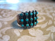 Vintage Sterling Silver 3 Row Petit Point by charmingellie on Etsy, $55.00