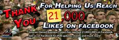 We've now grown to over 21,000 Facebook supporters!