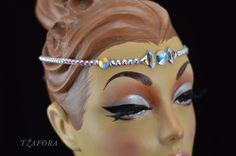 """""""Clarissa"""" - Swarovski ballroom jewelry headband. More available at Tzafora.com"""